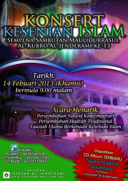 Poster Konsert Kesenian Islam